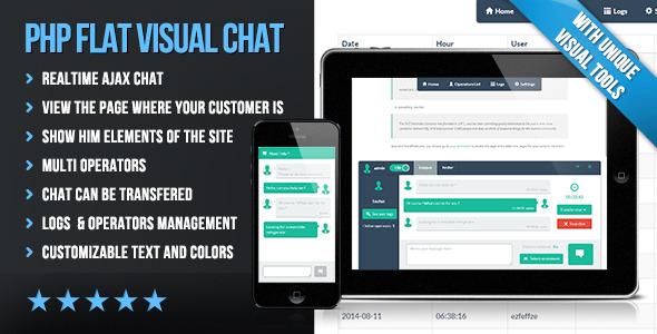 CodeCanyon PHP Flat Visual Chat 8641929