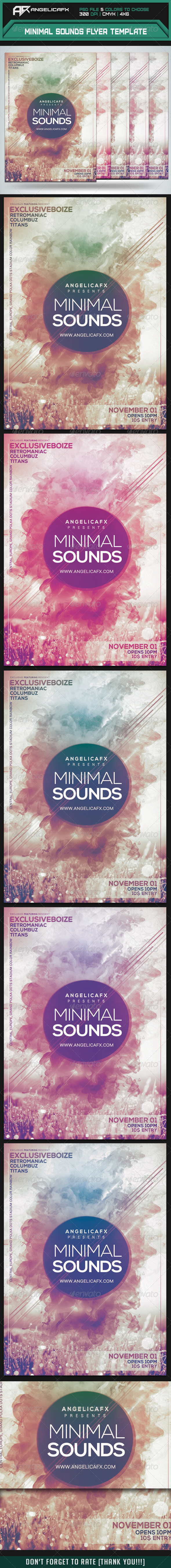 GraphicRiver Minimal Sounds Flyer Template 8641969
