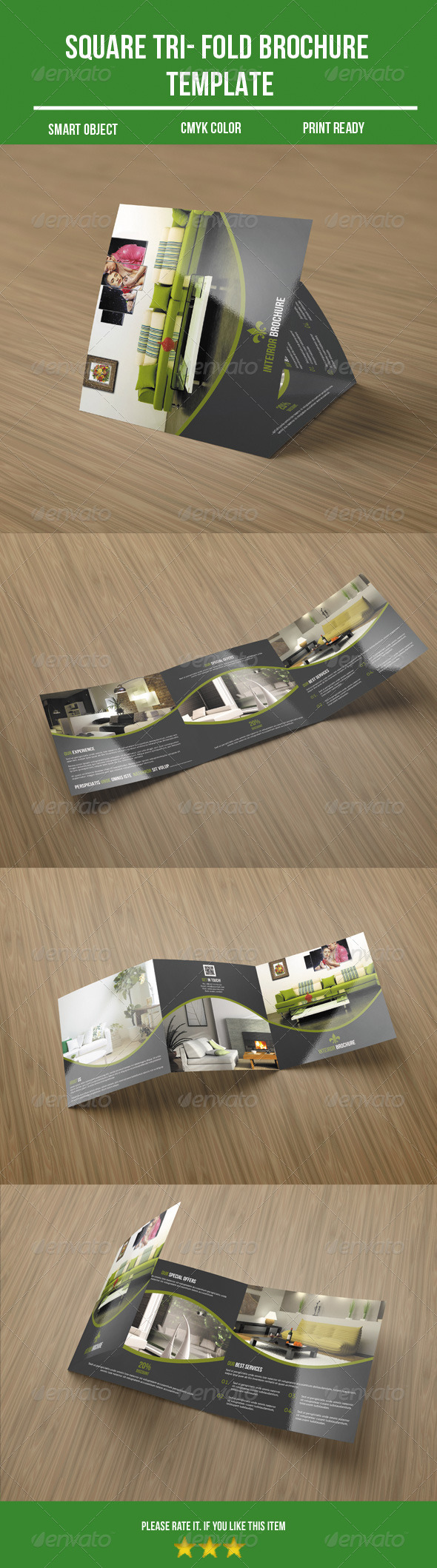 GraphicRiver Square Tri- fold Interior Brochure 8641982