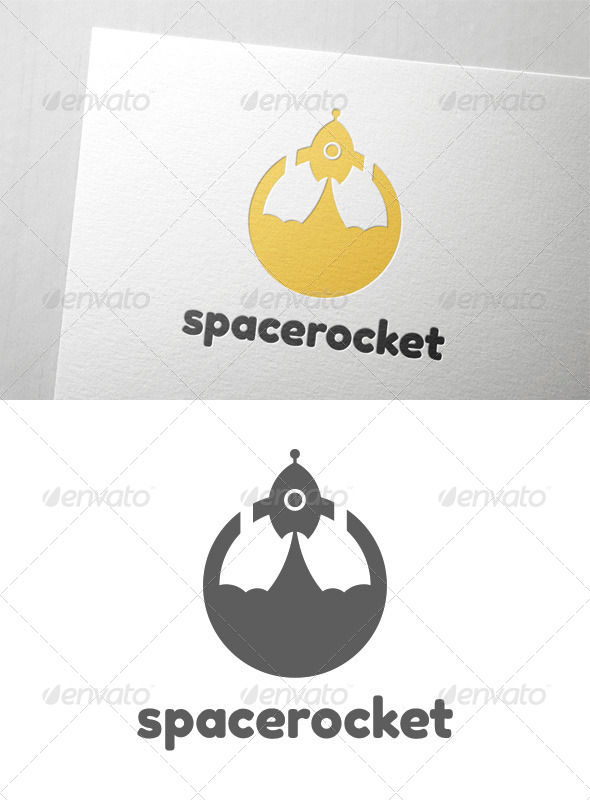GraphicRiver Space Rocket Logo 8635919