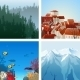 Landscapes Set - GraphicRiver Item for Sale