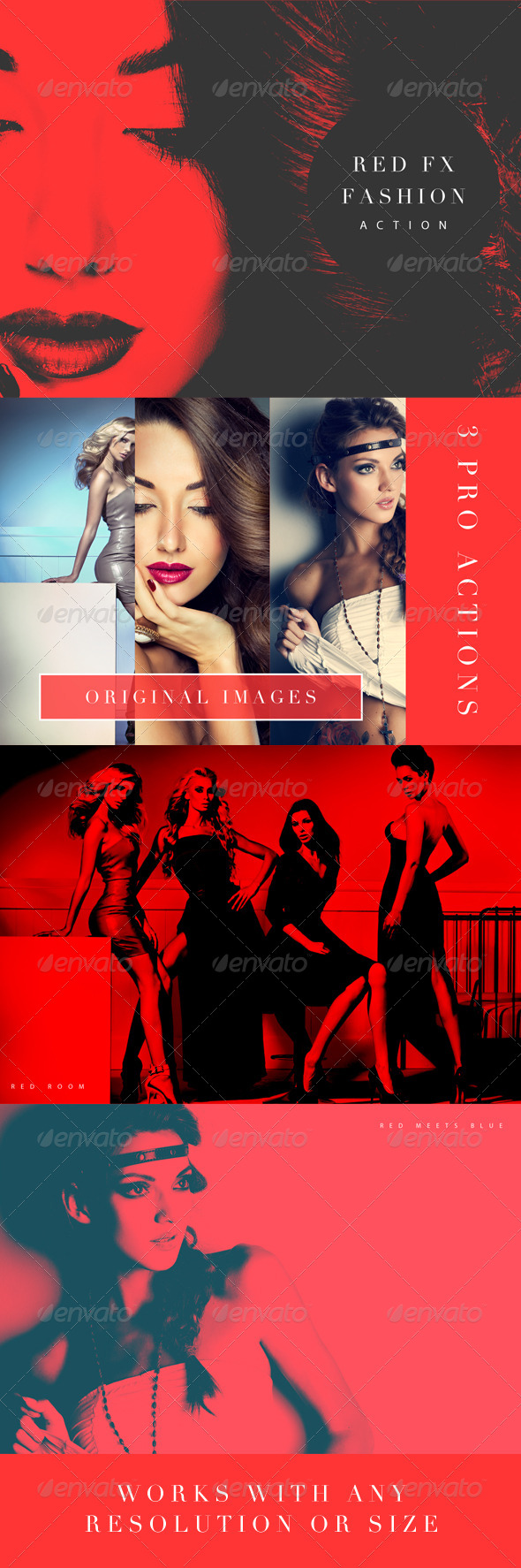 GraphicRiver Red FX Fashion Photoshop Action 8642459