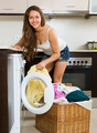 Housewife using washing machine - PhotoDune Item for Sale