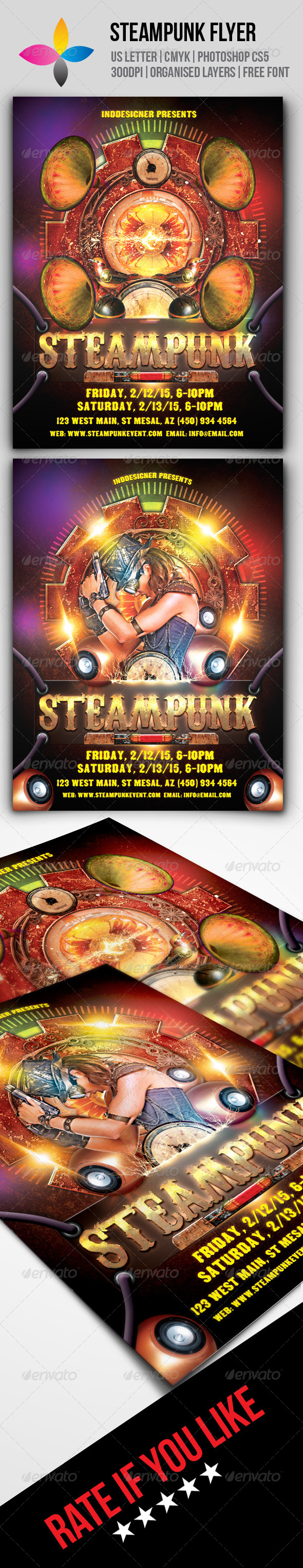 GraphicRiver Steampunk Flyer 8642627