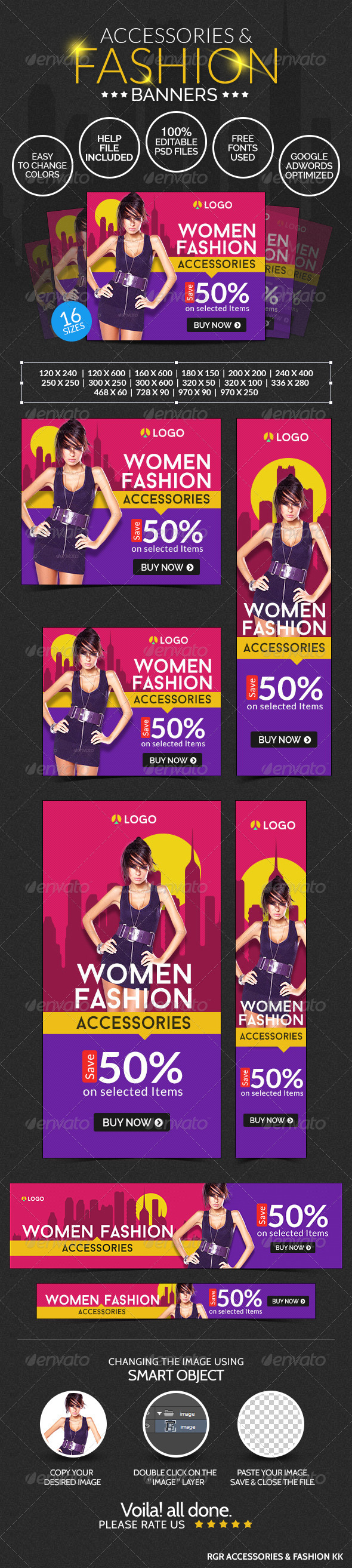GraphicRiver Fashion Accessories Banners 8642632
