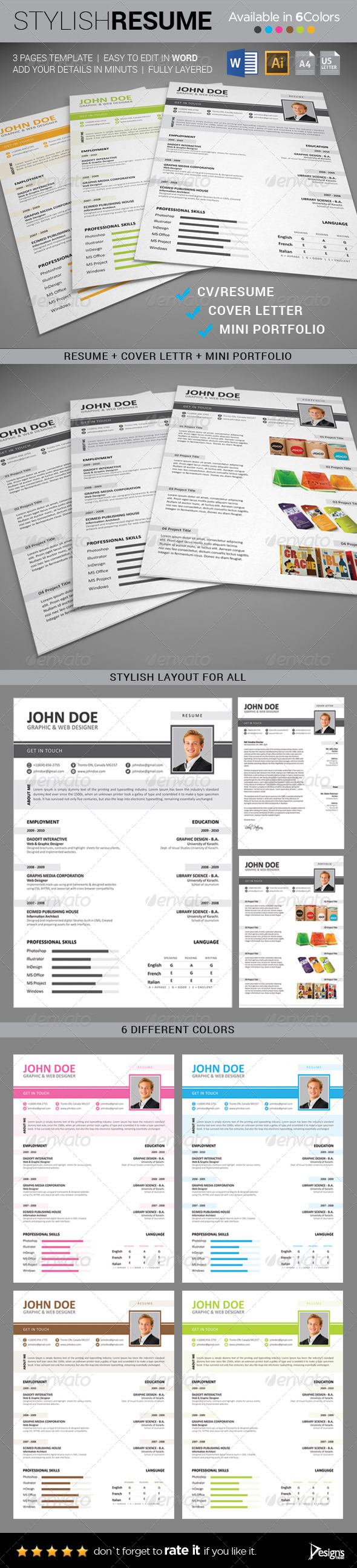 GraphicRiver Resume CV Template 8642647