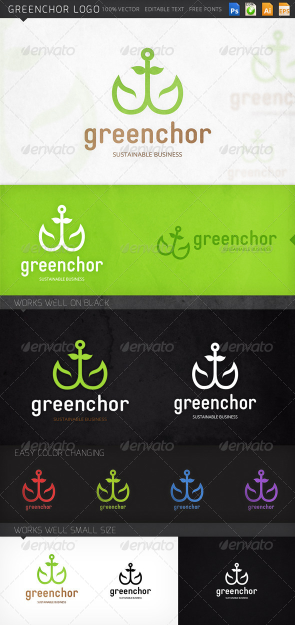 GraphicRiver Greenchor Logo 8642693