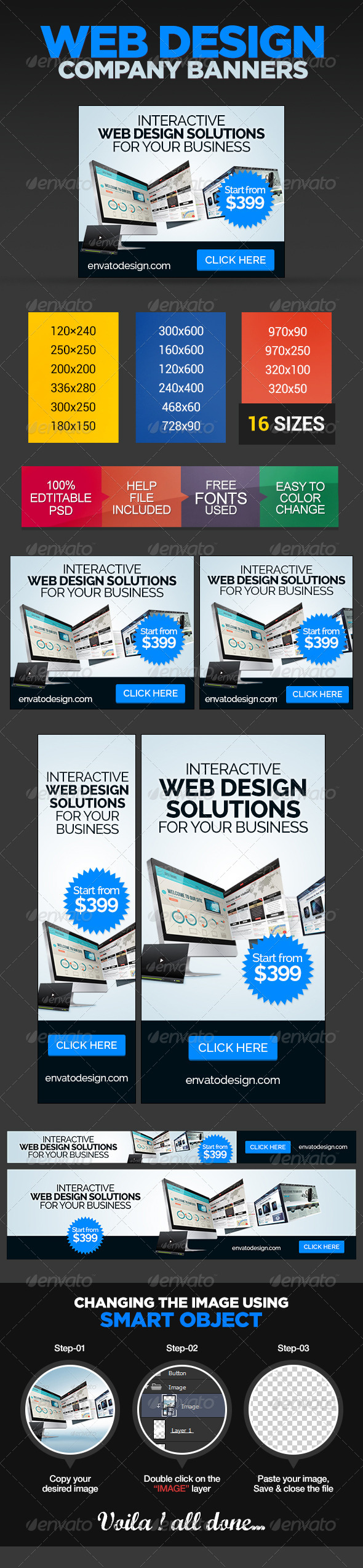 GraphicRiver Design Company Banner Ads 8642699
