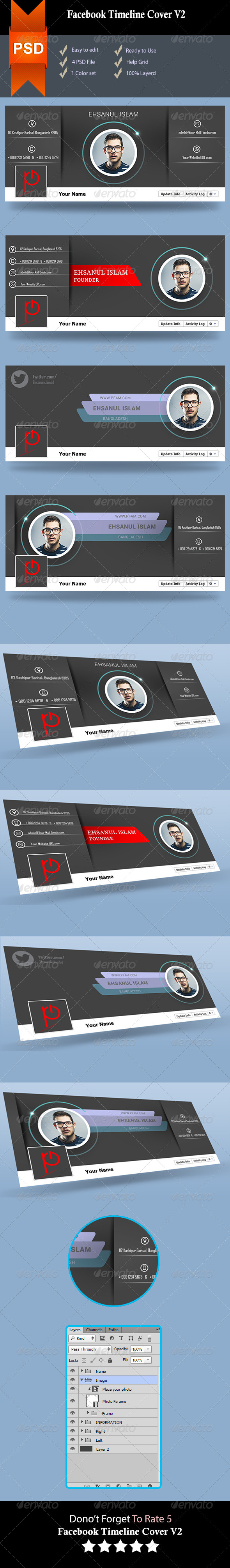 GraphicRiver Facebook Timeline Cover V2 8642701