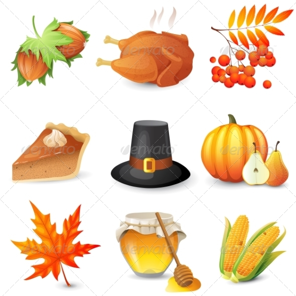 GraphicRiver Thanksgiving Icons 8642740