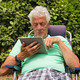 Senior man with digital tablet - PhotoDune Item for Sale