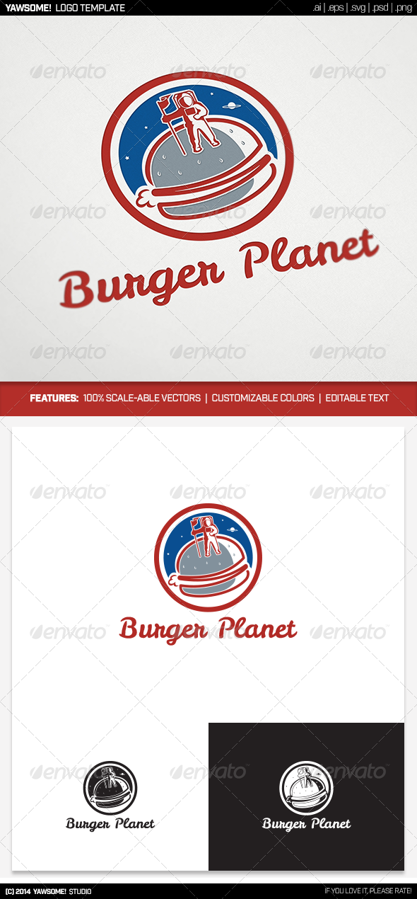 GraphicRiver PlanetBurger Logo 8635825