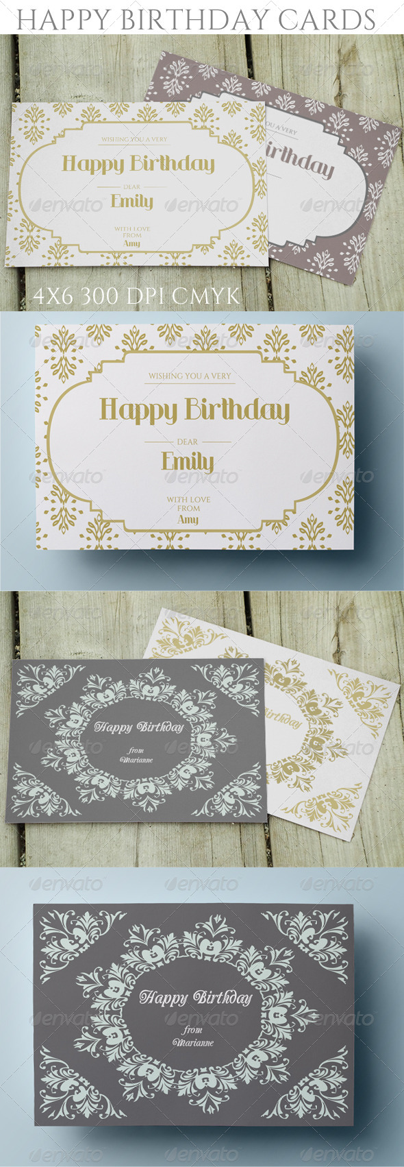 GraphicRiver Elegnat Birthday Cards 8642932