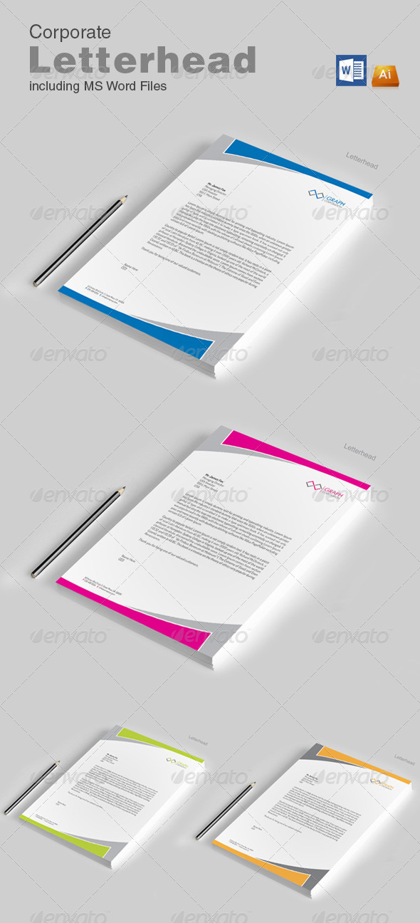 GraphicRiver Letterhead with word 8642947