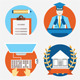 Set of Flat Education Icons - GraphicRiver Item for Sale