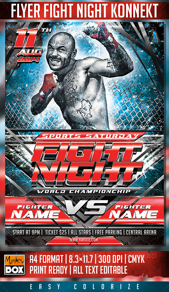 GraphicRiver Flyer Fight Night Konnekt 8638667