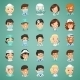 Doctors Cartoon Characters Icons Set - GraphicRiver Item for Sale