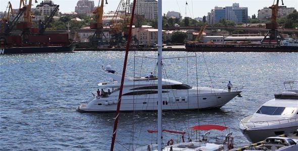 Berth Yacht In The Sea Port