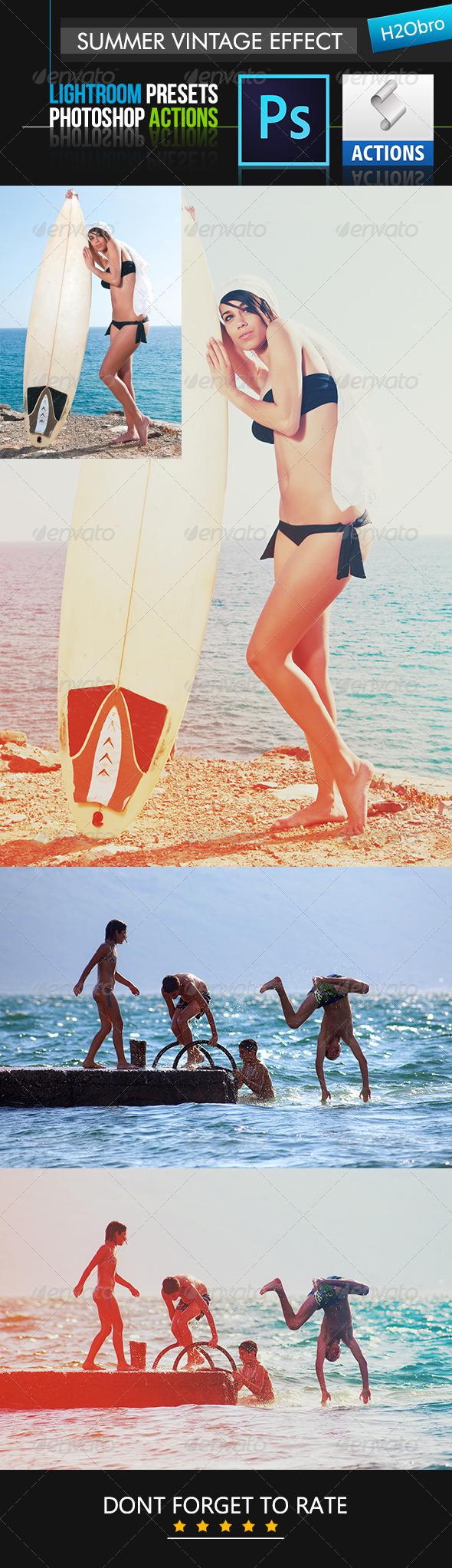 GraphicRiver Summer Vintage Effect 8638378
