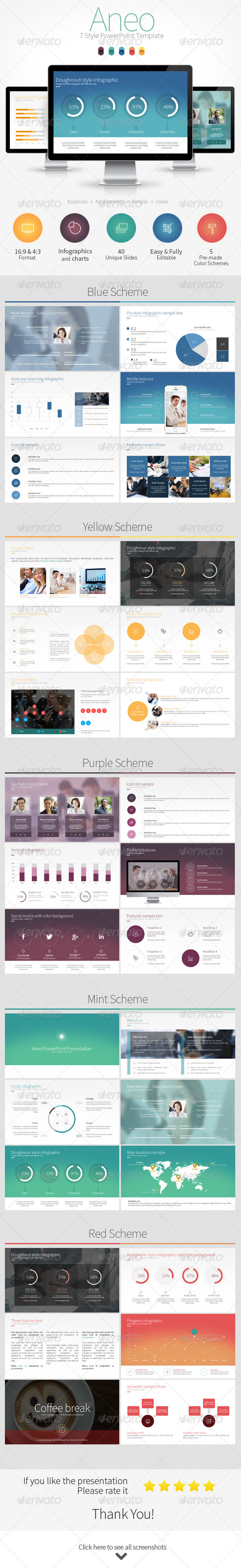 GraphicRiver Aneo 7 Style PowerPoint Template 8637237