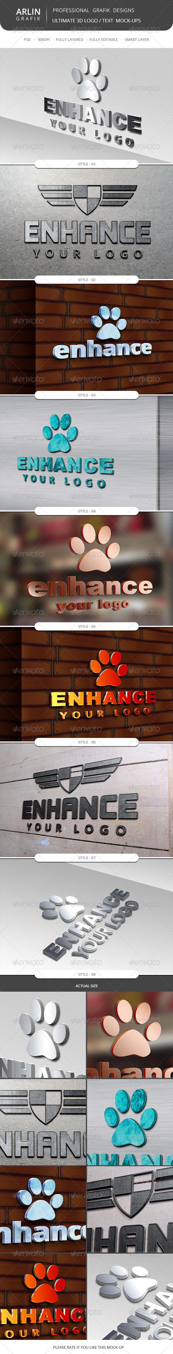 GraphicRiver Ultimate 3D Logo Mockups 8606109