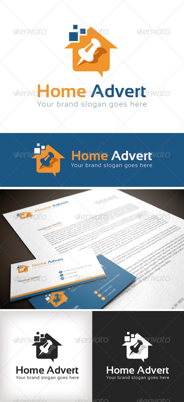GraphicRiver Home Advert Logo Template 8643366