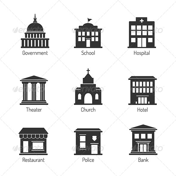 GraphicRiver Government Building Icons 8643373
