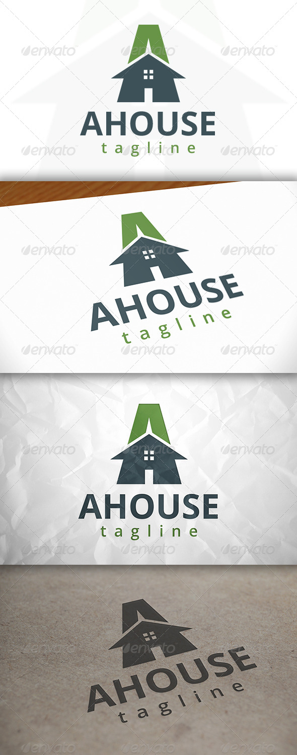 GraphicRiver A Letter House Logo 8643382
