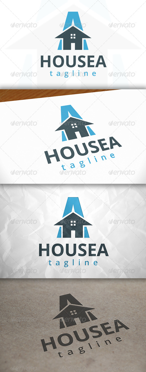 GraphicRiver House A Letter Logo 8643435