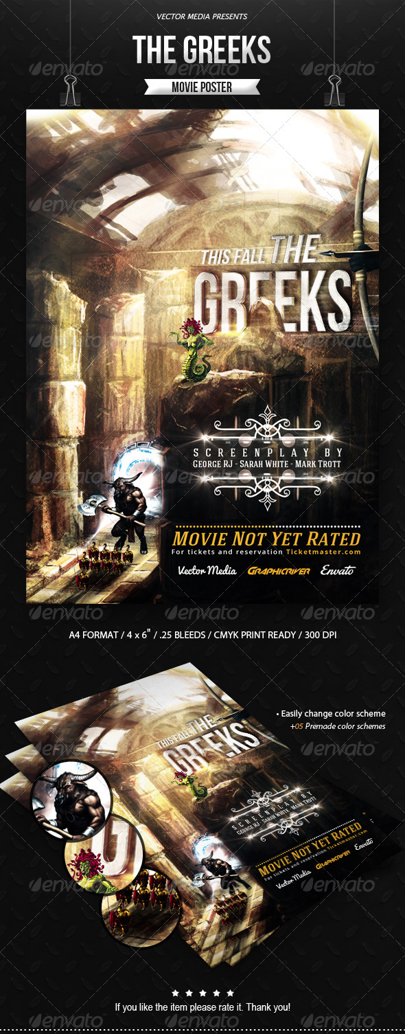 GraphicRiver The Greeks Movie Poster 8643453