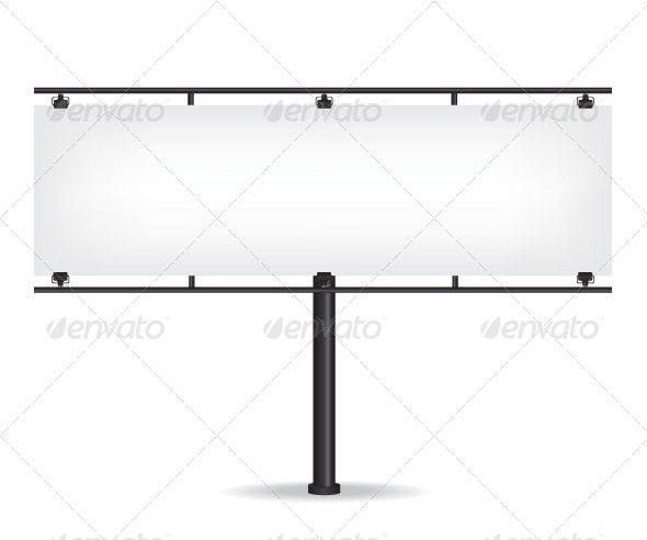 GraphicRiver Blank Black Billboard on White Background 8643459