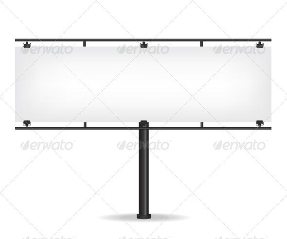 GraphicRiver Blank Black Billboard on White Background 8643459