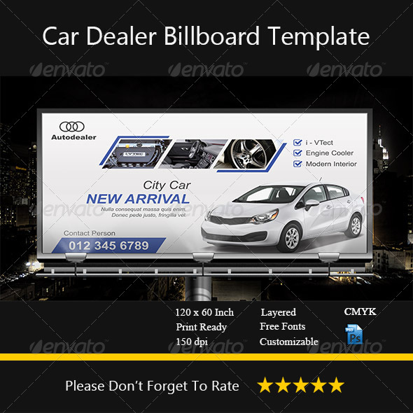 GraphicRiver Car Dealer Billboard 8631011