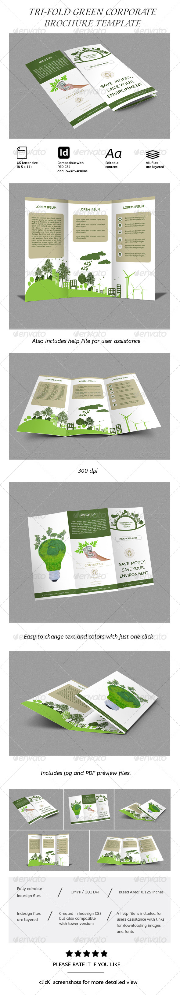 Green Energy Tri-fold Business Brochure
