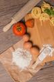 Raw pasta, tomato and eggs - PhotoDune Item for Sale