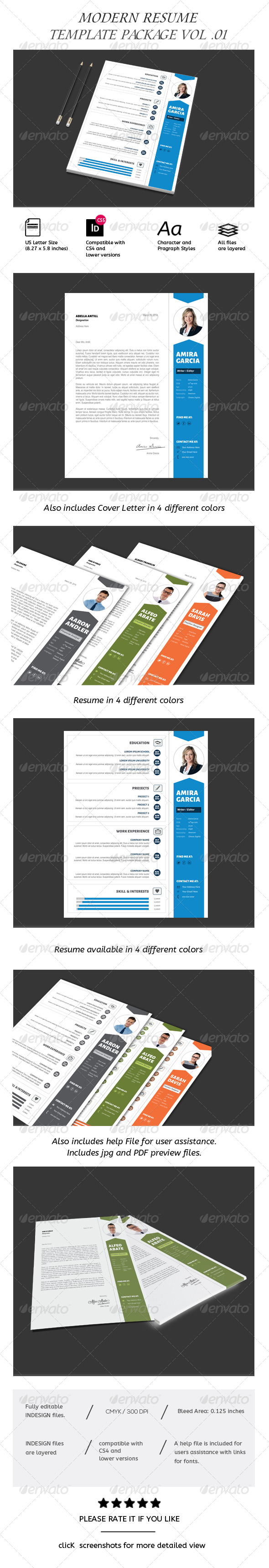Clean Resume & Coverletter/CV Template
