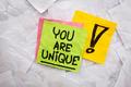 you are unique reminder - PhotoDune Item for Sale