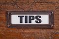 tips - file cabinet label - PhotoDune Item for Sale