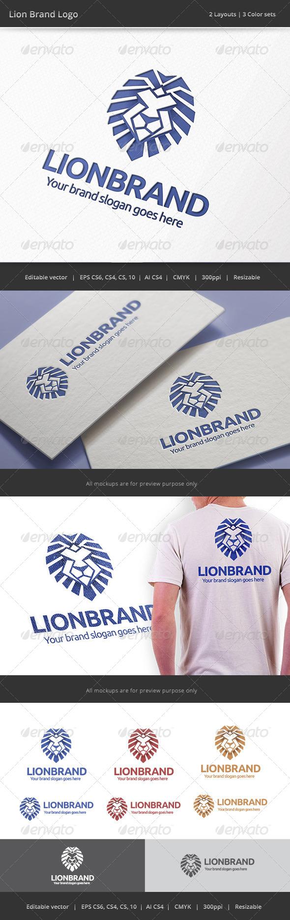 GraphicRiver Lion Brand Logo 8643717