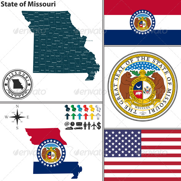 GraphicRiver Map of State Missouri USA 8644282