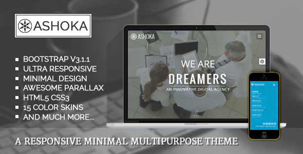 ThemeForest Ashoka Responsive Minimal Multipurpose Theme 8296581