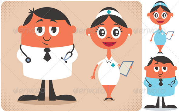 GraphicRiver Doctor and Nurse 8644334