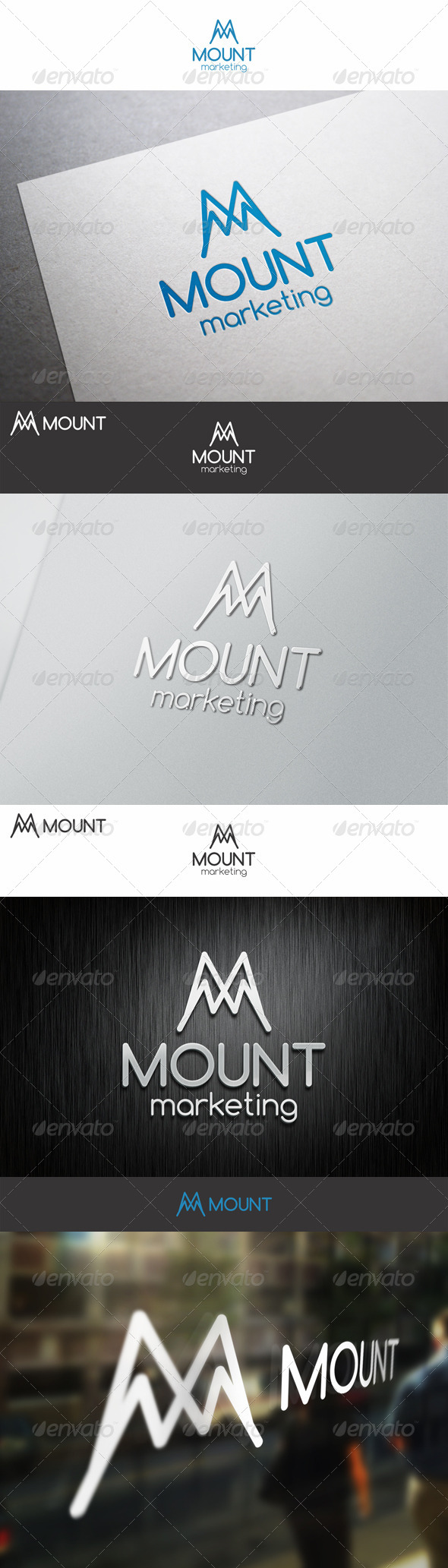 Mount Marketing M Logo Letter - Letters Logo Templates