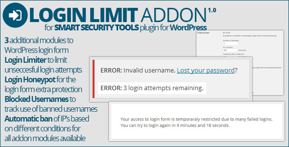 CodeCanyon Smart Security Tools Login Limit Addon 8644347