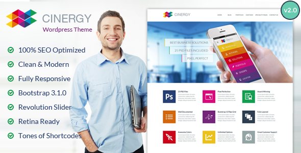 Cinergy - Modern Business Wordpress Theme - Business Corporate