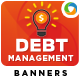 Debt Management Banners - GraphicRiver Item for Sale