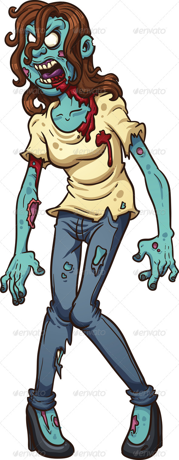 GraphicRiver Zombie Woman 8644852