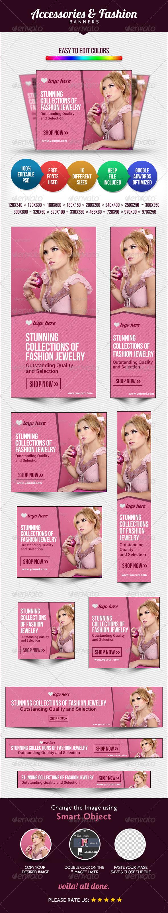 GraphicRiver Fashion Accessories Banners 8644862
