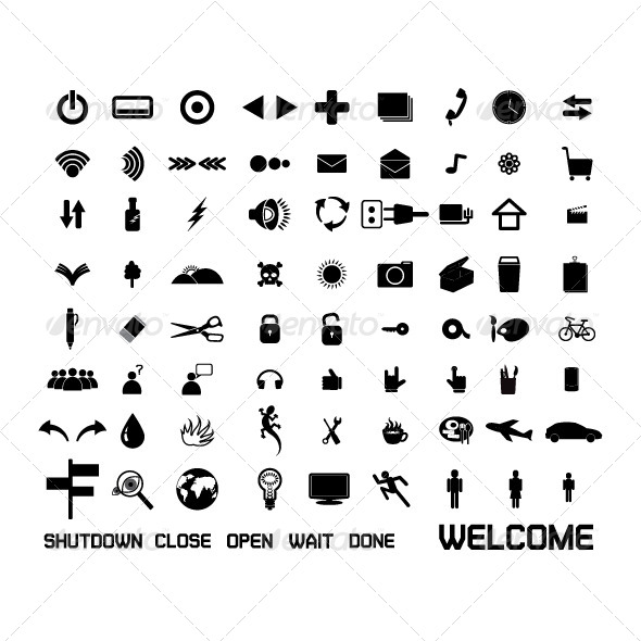 GraphicRiver Set of Web Icon 8644943