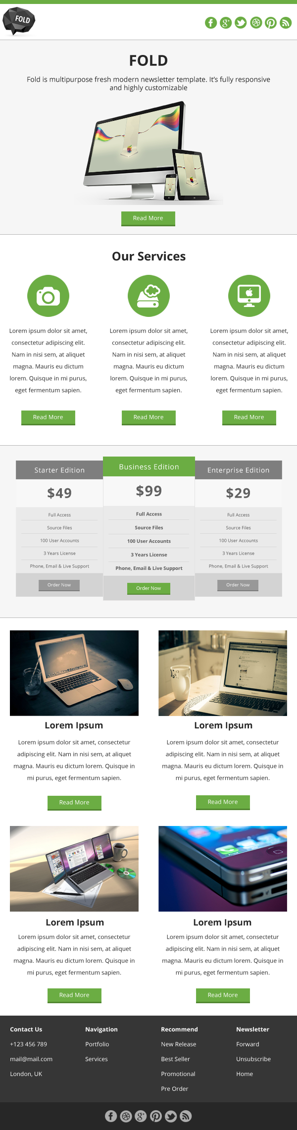 FOLD - Responsive Email Template